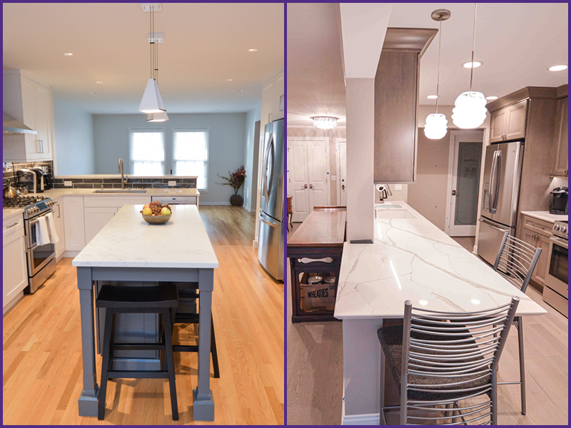 Island and Peninsula Kitchen Remodel