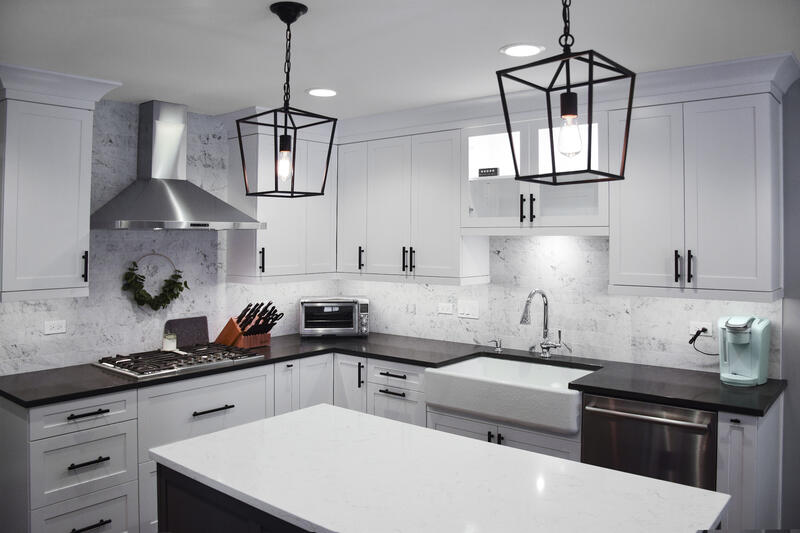 Black and White Kitchen Arlington Heights