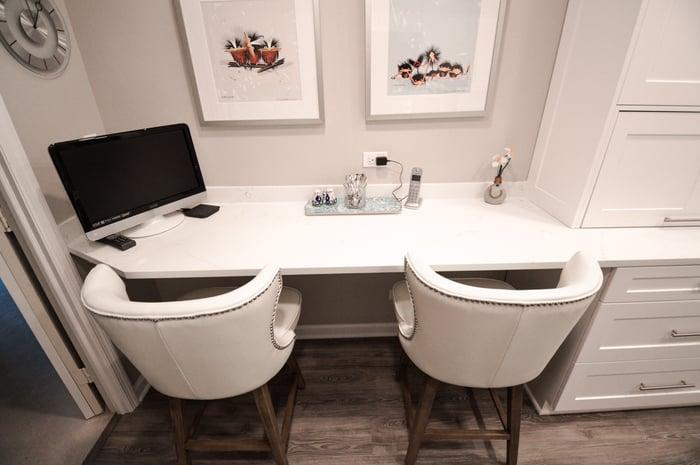 Northbrook-Condo-Galley-Kitchen-Remodel-Bar-Design